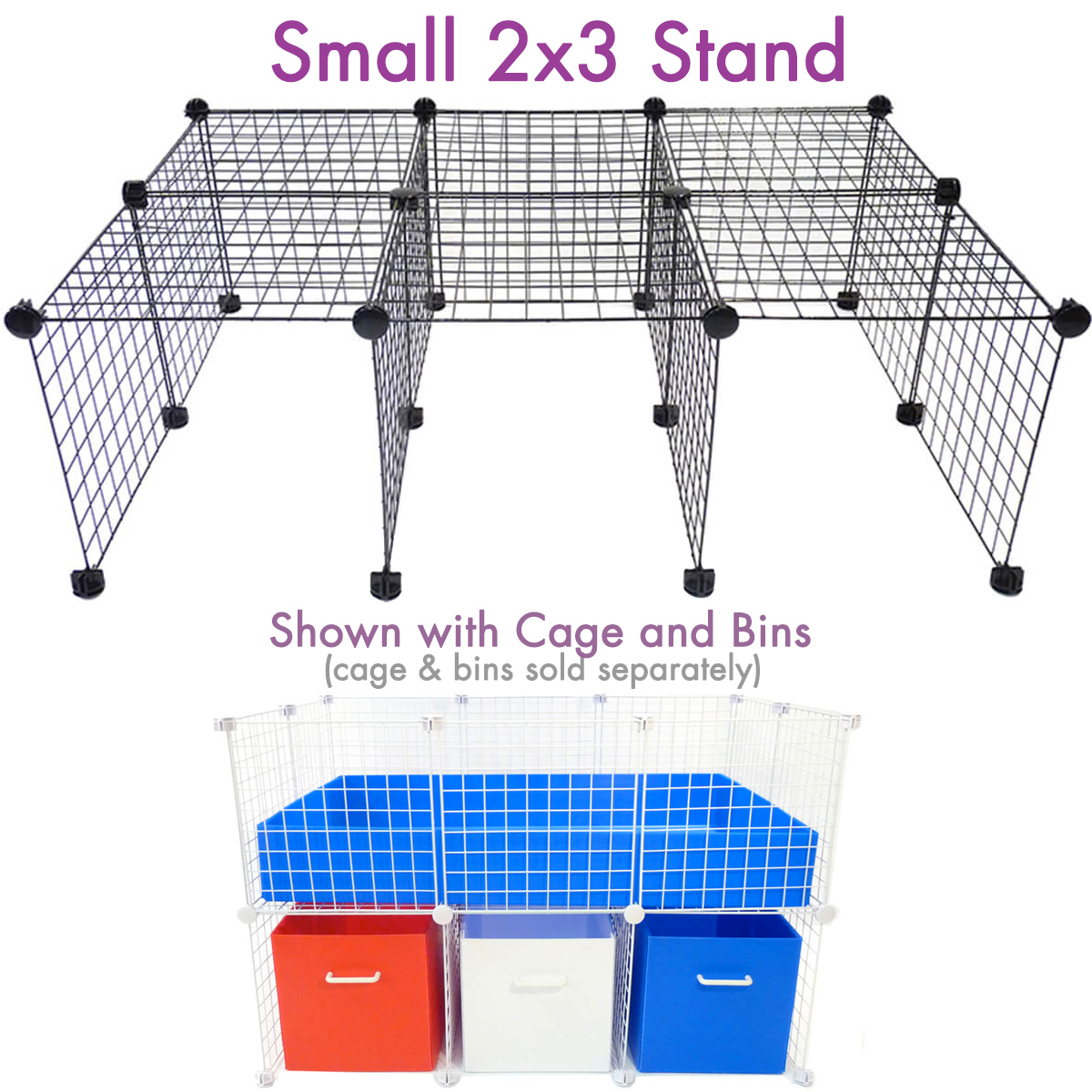 Cage stand for small 2x3 for Guinea pig stand
