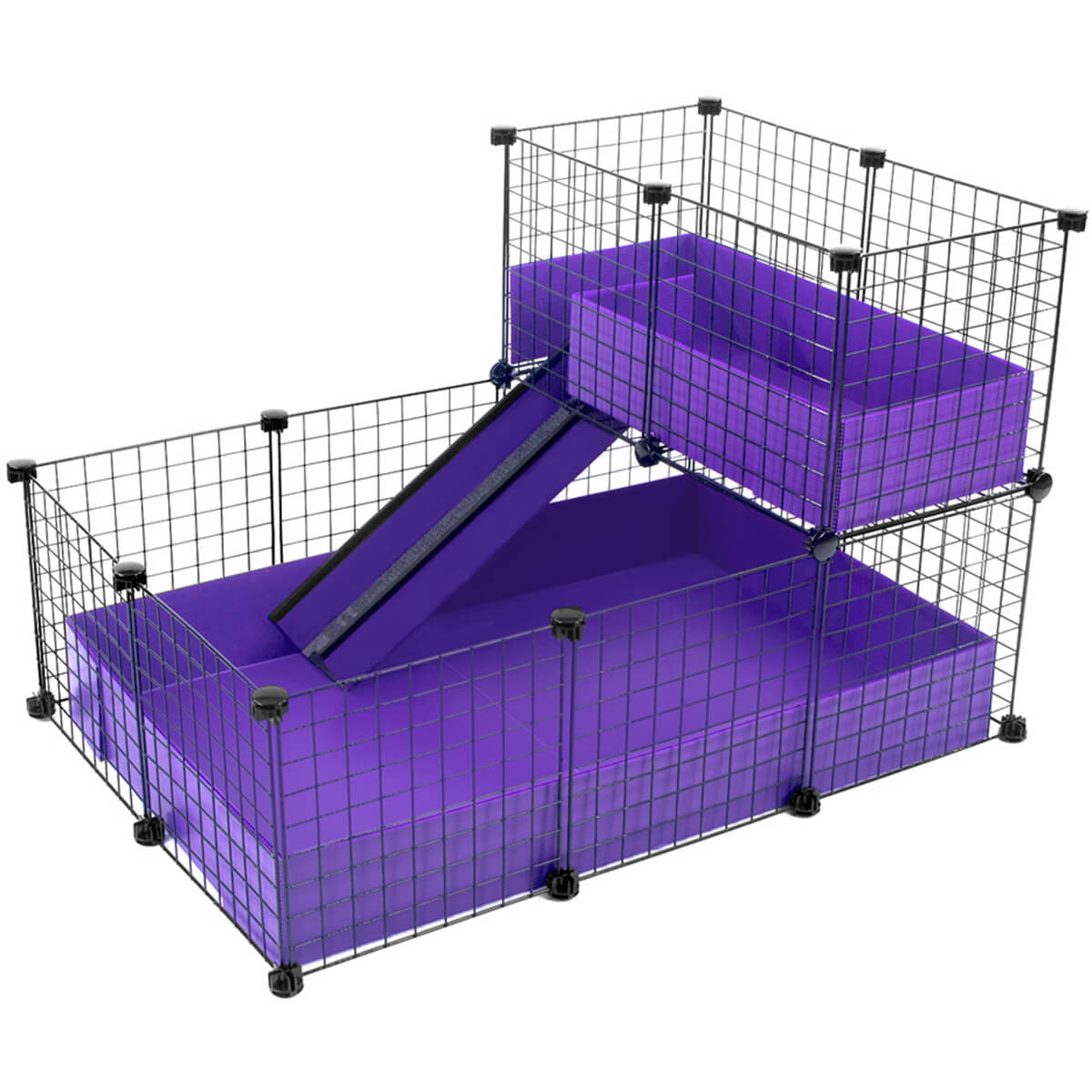 Small 2x3 grids loft deluxe cages cagetopia for Small guinea pig cages for sale