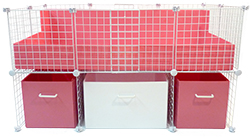 Pink and White Cage Cubby System