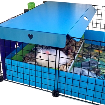 Cavy canopy for c c guinea pig cages with open tops for Coroplast guinea pig cage for sale
