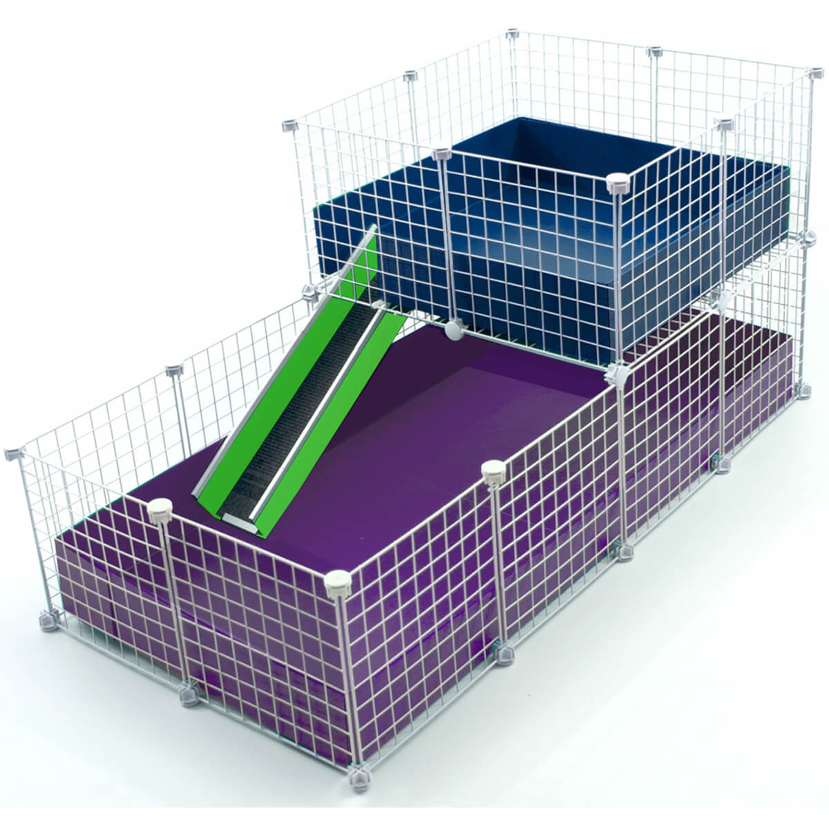Large 2x4 grids wide loft deluxe cages c c cages for Making a c c cage