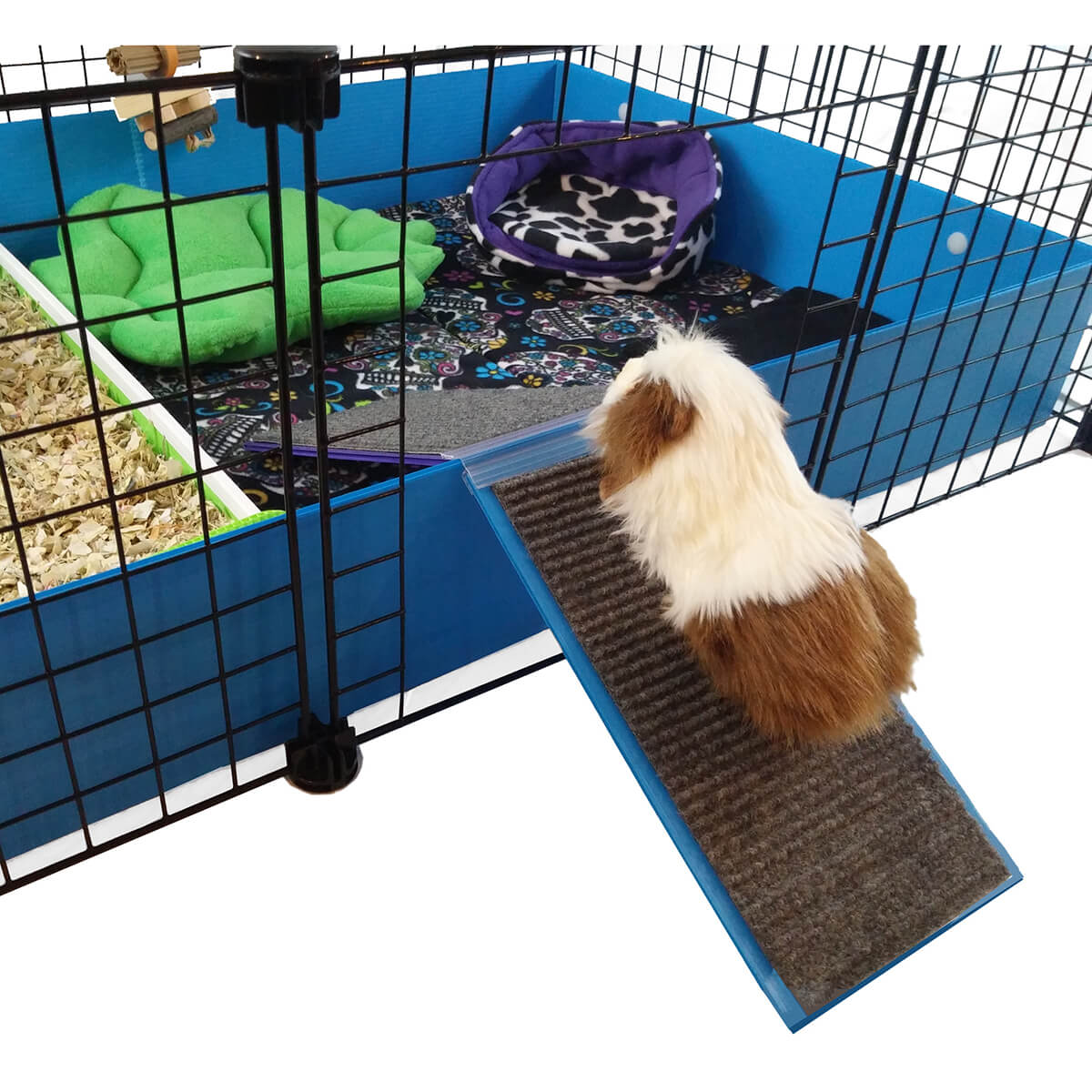Piggyback ramp ramps c c cages for guinea pigs for Coroplast guinea pig cage for sale