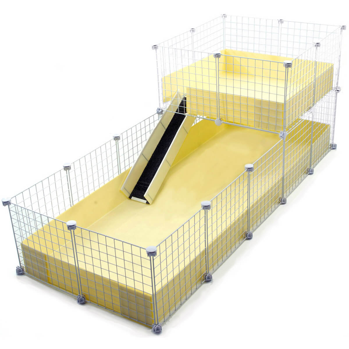 Xl 2x5 grids wide loft deluxe cages c c cages for for Coroplast guinea pig cage for sale