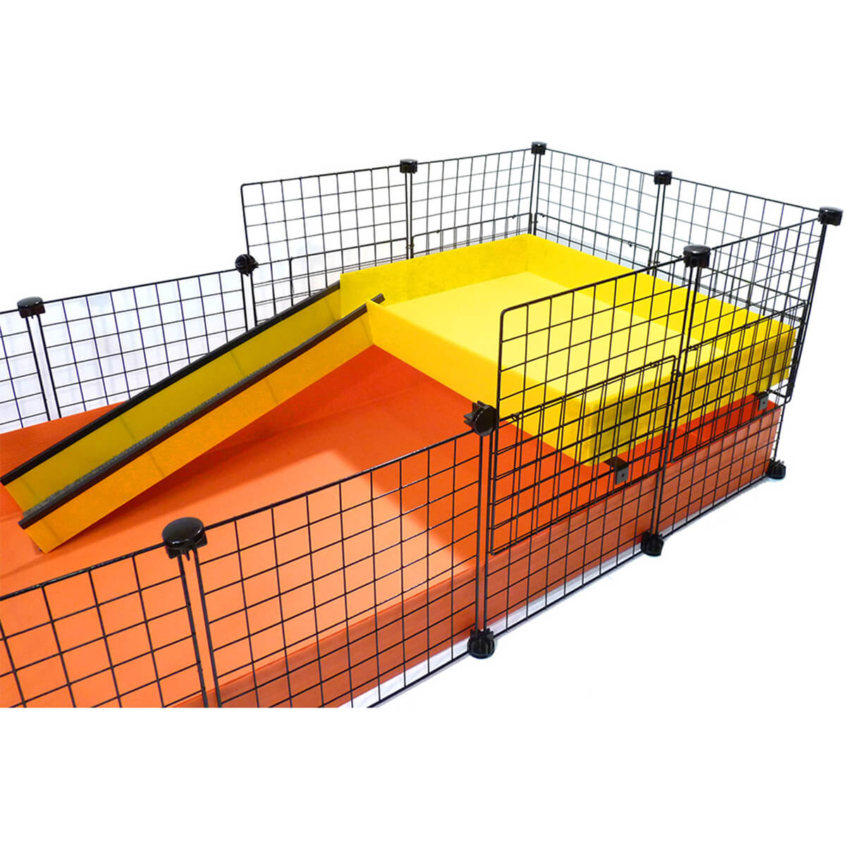 Piggy party patio a large mid height upper level for c c for Build your own guinea pig cage