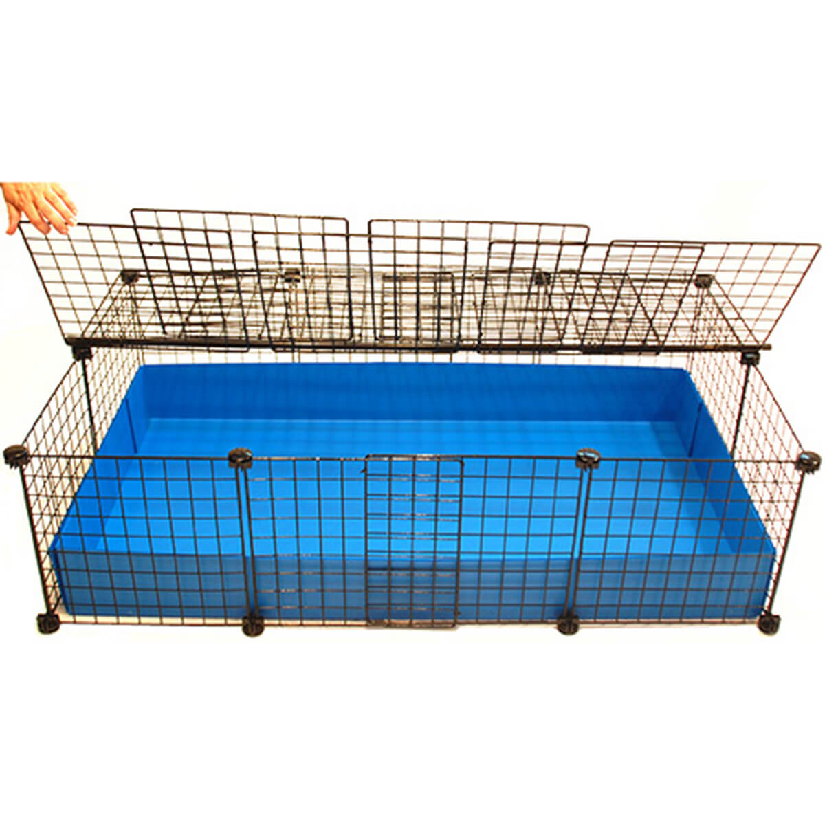 Medium 2x3 5 grids covered standard covered cages c for Coroplast guinea pig cage for sale