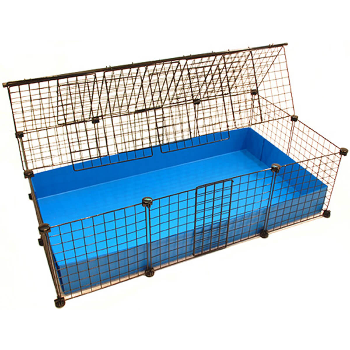 Medium Cage Covered,propped open