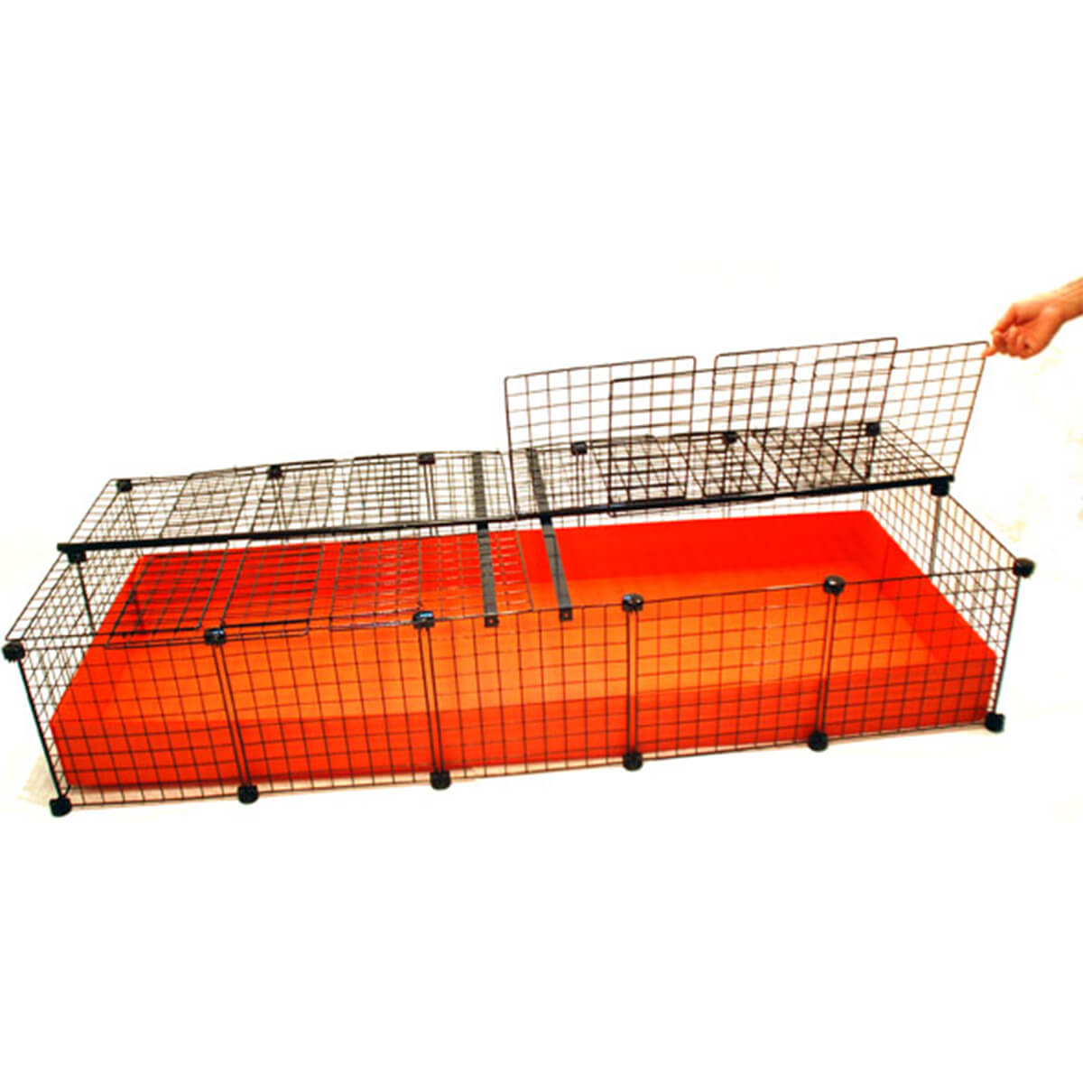 Xl 2x5 grids covered standard covered cages c c for Build your own guinea pig cage