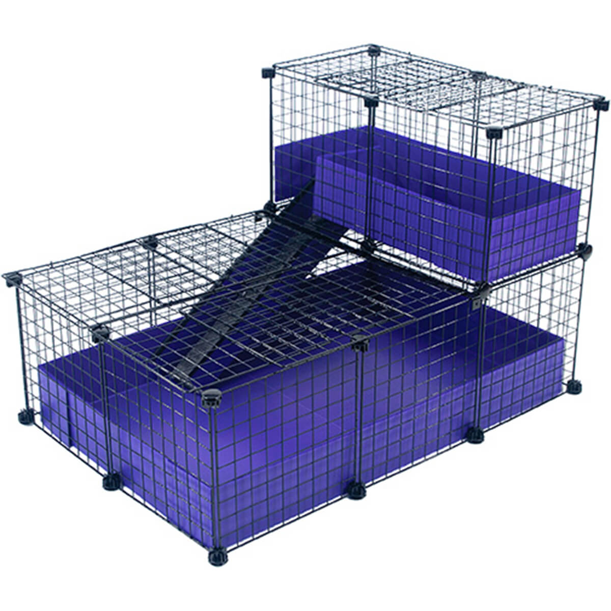 Small with narrow loft covered deluxe covered cages c for Guinea pig and cage for sale