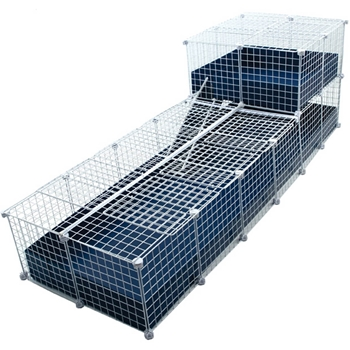 Cubes and coroplast cage c c covered deluxe two for Coroplast guinea pig cage for sale