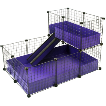 Small 2x3 grids narrow loft deluxe cages c c cages for Coroplast guinea pig cage for sale