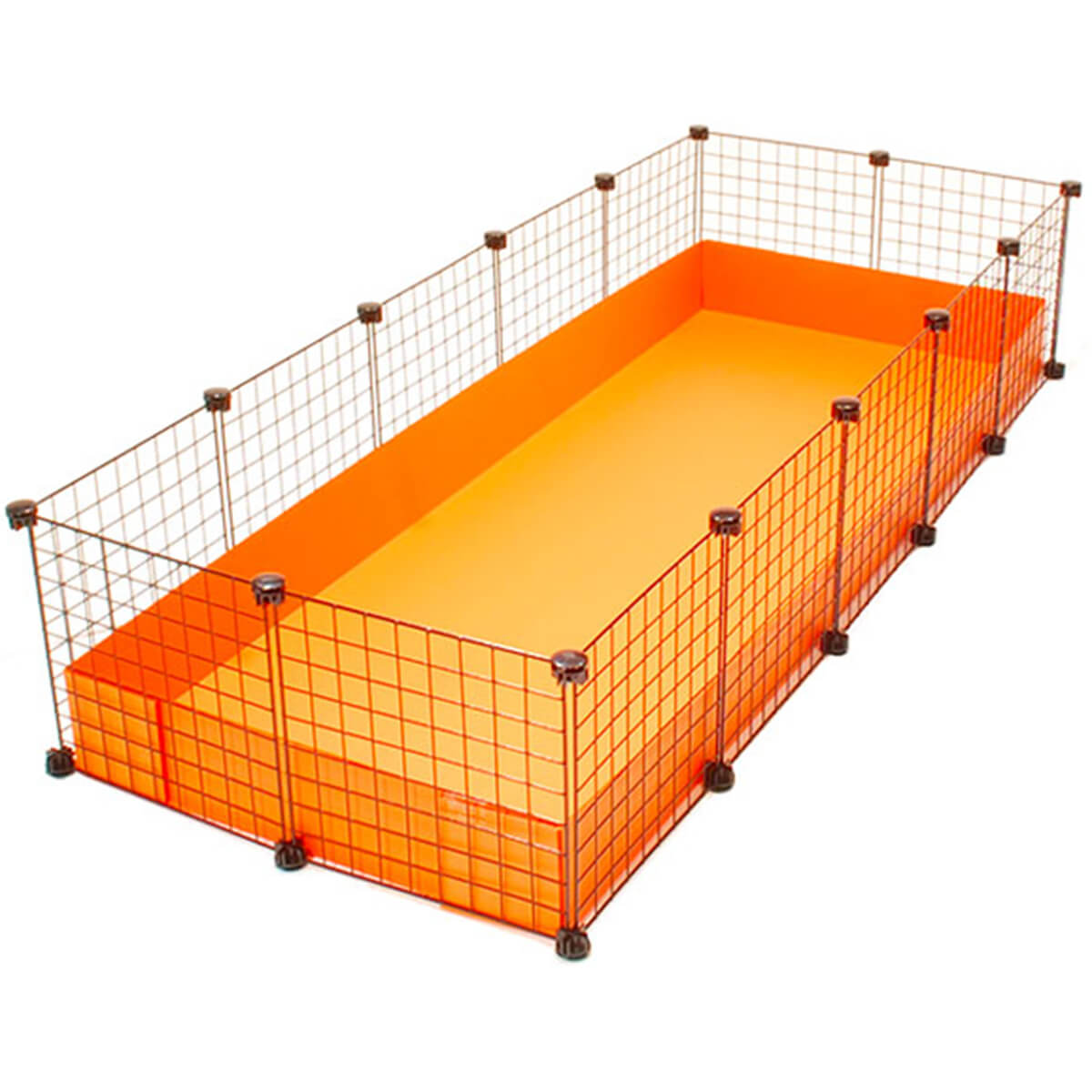 Xl 2x5 grids cage clearance high back wall cages for Guinea pig cages for two