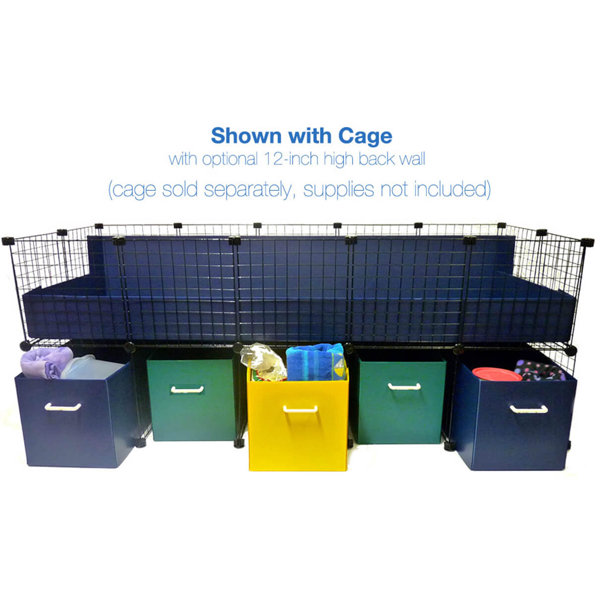Jumbo Cage stand with supplies