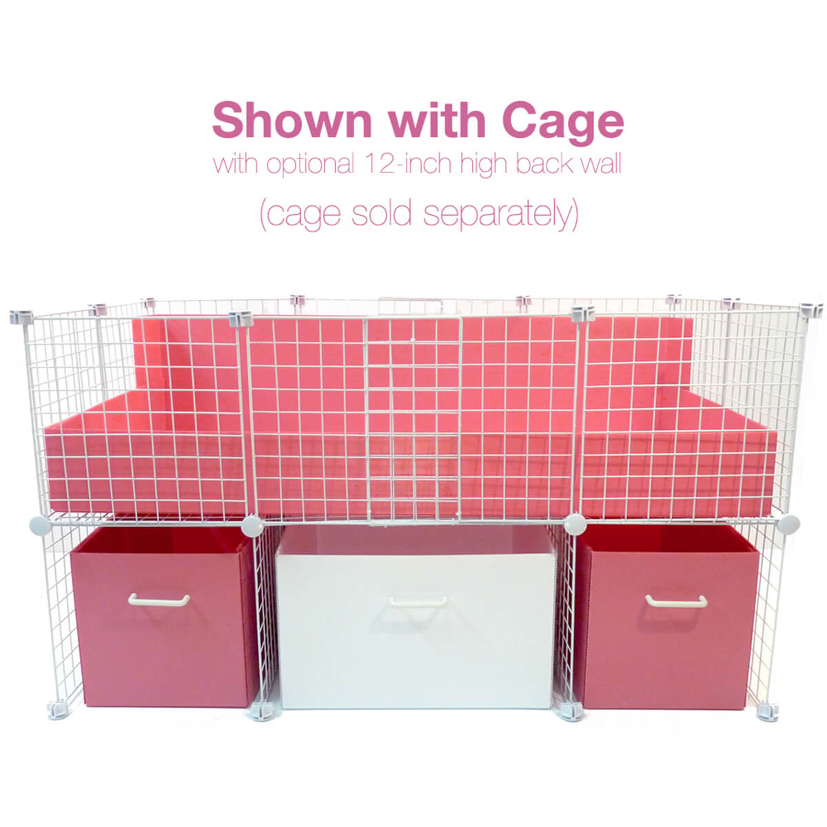 Pink and White Medium Cubby