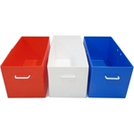 Bins for Small Cage - red, white and blue