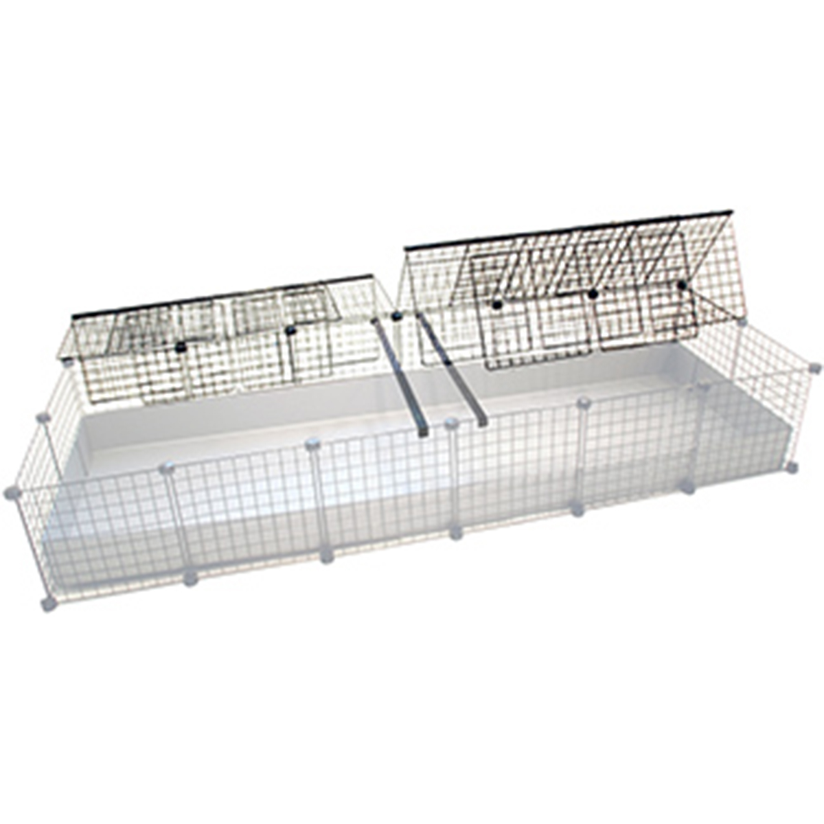 Jumbo Cage with cover tented back