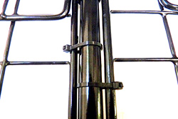Cage cover rod shown as hinged