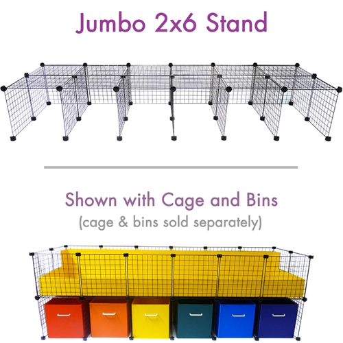 Cage stand jumbo 2x6 for C&C Cagetopia Guinea Pig Cages