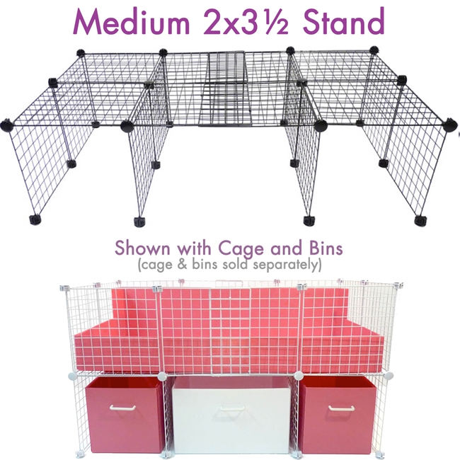 Medium Cage Stand for a 2x3.5 Cagetopia C&C cage