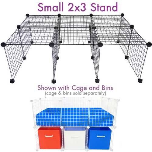 Small C&C Cage stand with cage and bins shown