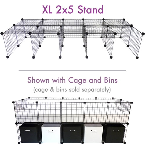 Cage stand XL 2x5 for C&C Cagetopia Guinea Pig Cages