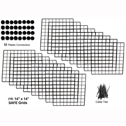 Cagetopia Jumbo grid pack for a 2x6 grid C&C guinea pig cage