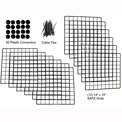 Cagetopia Medium Grid Set with Connectors for 2x3.5 C&C Cage