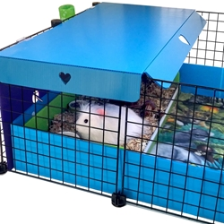 Pretty Blue Cavy Cafe Canopy for Guinea Pig Cages