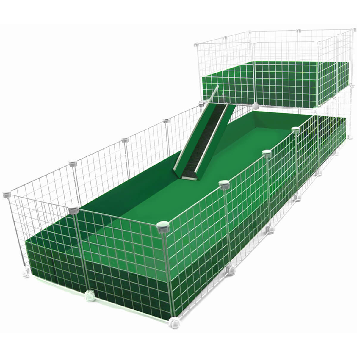 Jumbo 2x6 grids wide loft deluxe cages c c cages for Coroplast guinea pig cage for sale