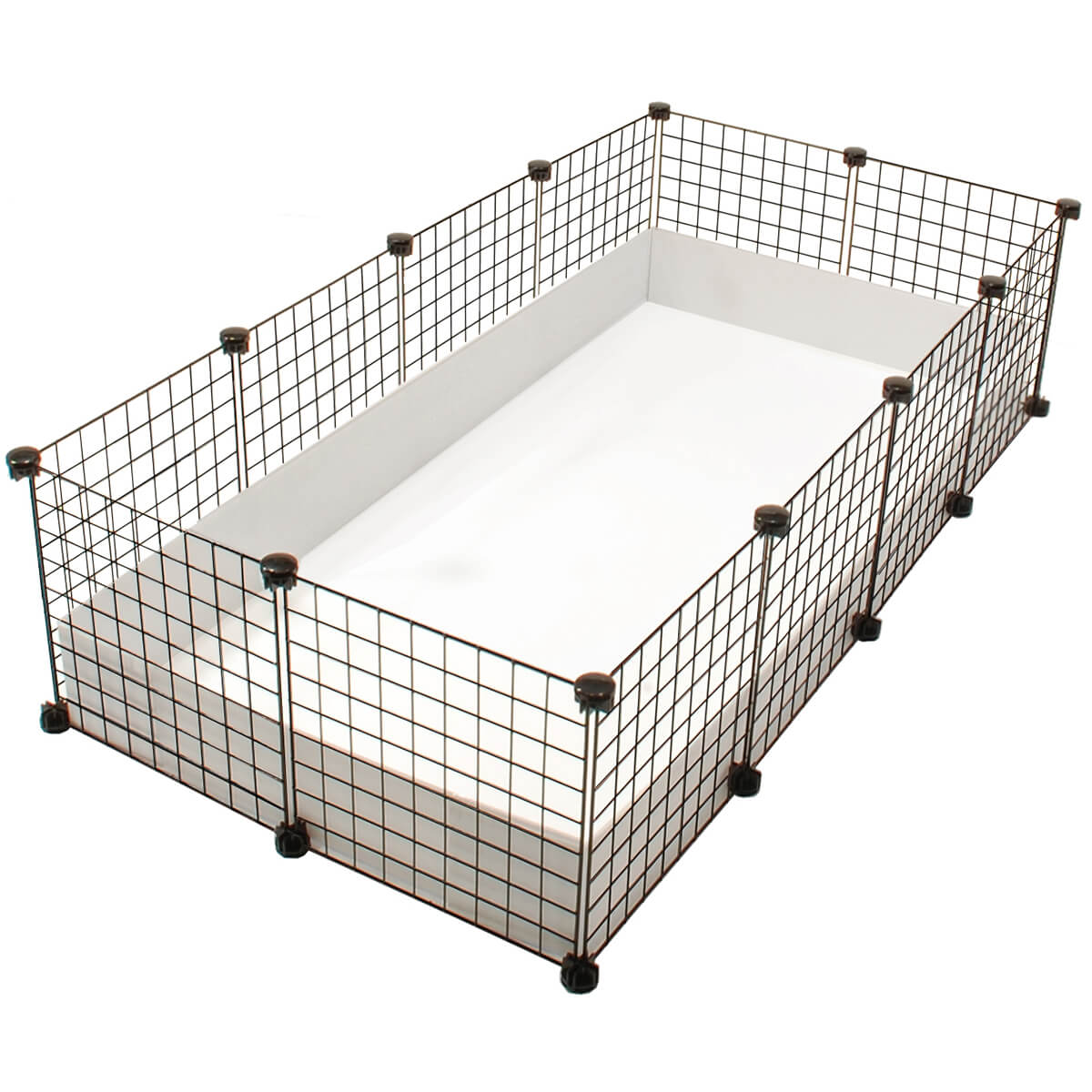 Large 2x4 grids cage standard cages cagetopia for Guinea pig cages for two