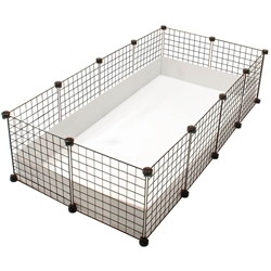 Large white C&C Guinea Pig Cagetopia Cage (2x4 grids)