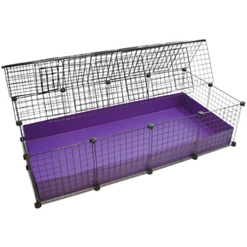 Large 2x4 grids covered standard covered cages c c for Coroplast guinea pig cage for sale