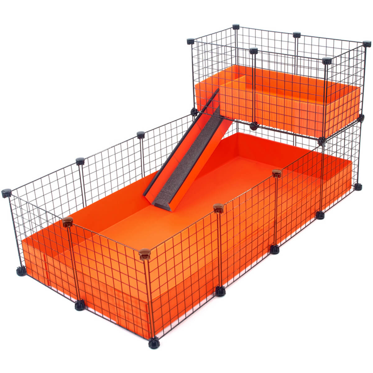Large 2x4 grids narrow loft deluxe cages c c cages for Coroplast guinea pig cage for sale