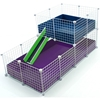 Large 2x4 grids wide loft deluxe cages c c cages for Coroplast guinea pig cage for sale