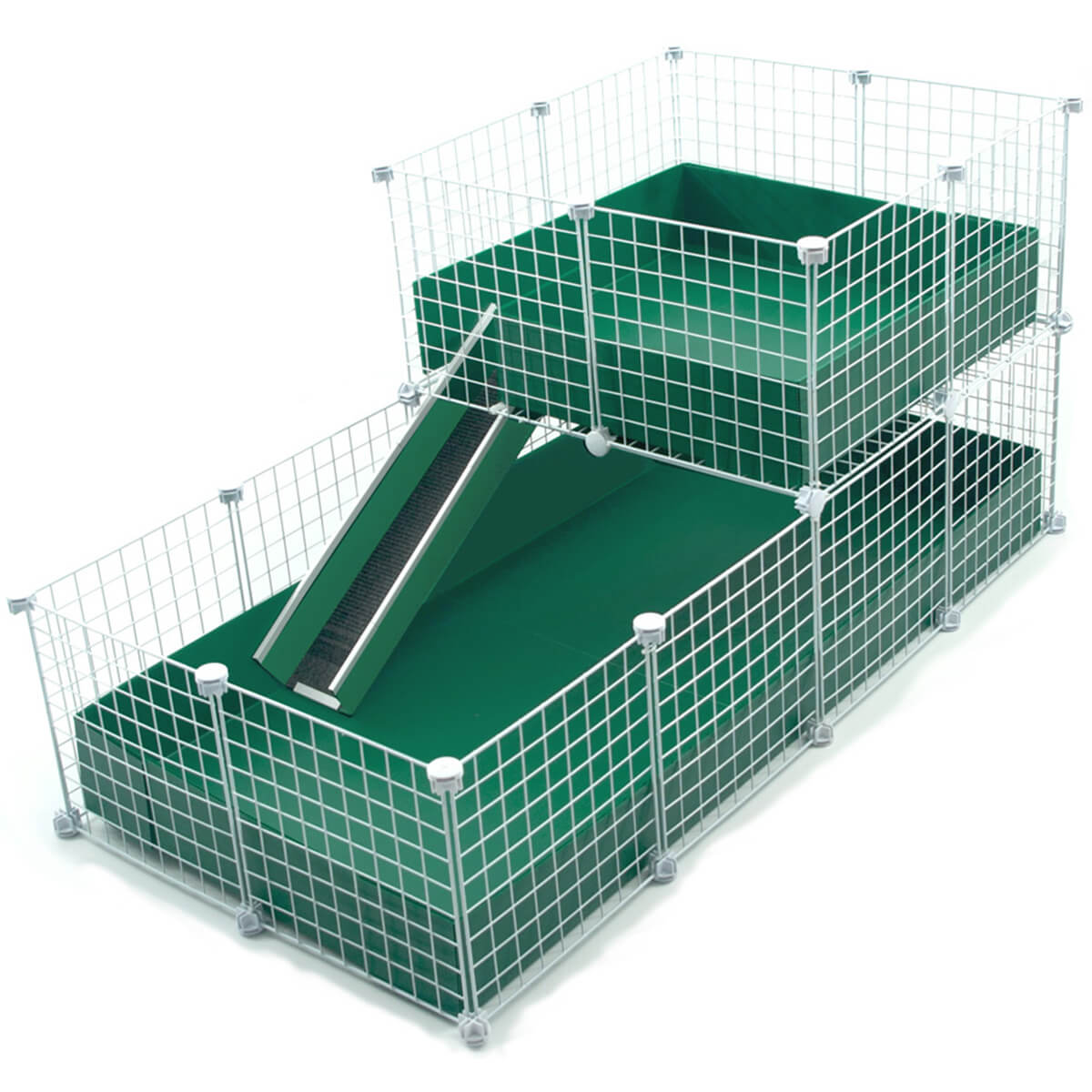 Large 2x4 grids wide loft deluxe cages c c cages for Guinea pig cage for 3