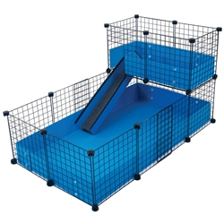 Cagetopia Medium Cage with a Narrow Loft for guinea pigs