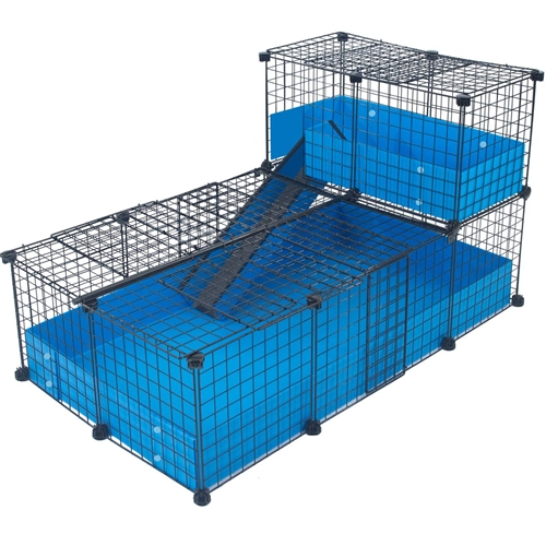 Cagetopia C&C Cage Medium with Narrow Loft Covered