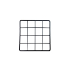 "Mini Grid Black, 4 holes x 4 holes, 6 3/8"" x 6 3/8"""