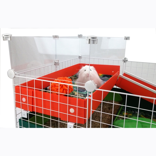 Pigture Windows for Guinea Pig Cages, shown on a patio