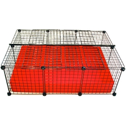 Cagetopia C&C Cage - Small, Red, Covered