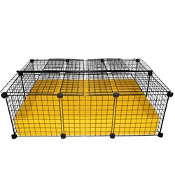 2x3 grid C&C covered Cagetopia Guinea pig cage