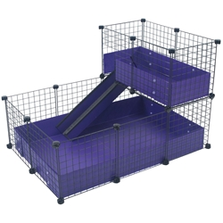 Cagetopia Small Narrow Loft C&C cage for guinea pigs