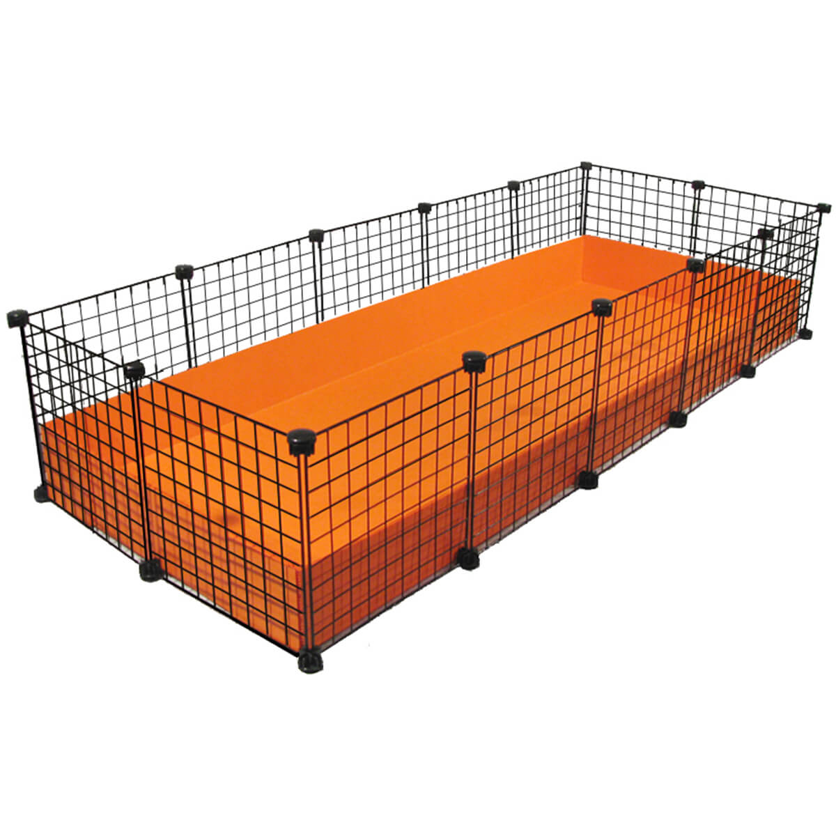 XL (2x5 Grid) C&C Guinea Pig Cage by Cagetopia - orange