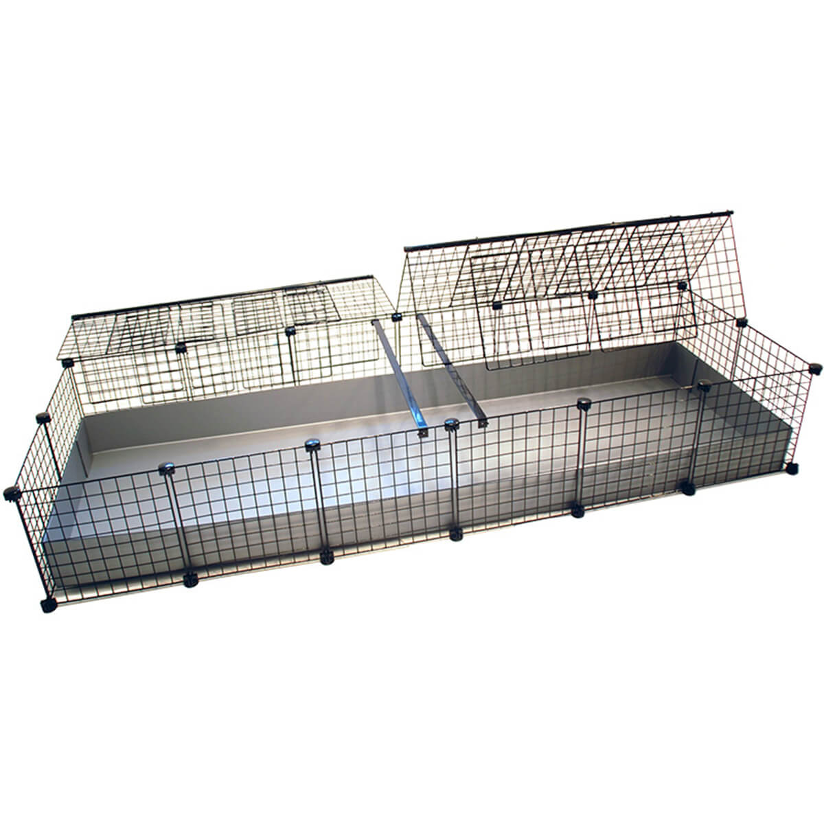 Black And Cream Bedding Jumbo (2x6 Grids) Covered - Standard Covered Cages - C&C ...