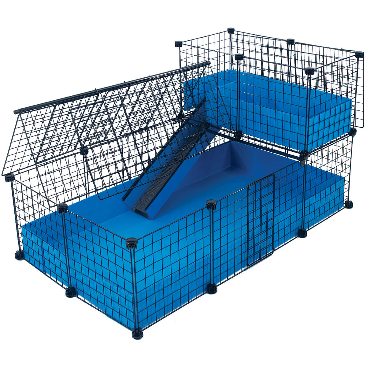 Medium with narrow loft covered deluxe covered cages for Small guinea pig cages for sale