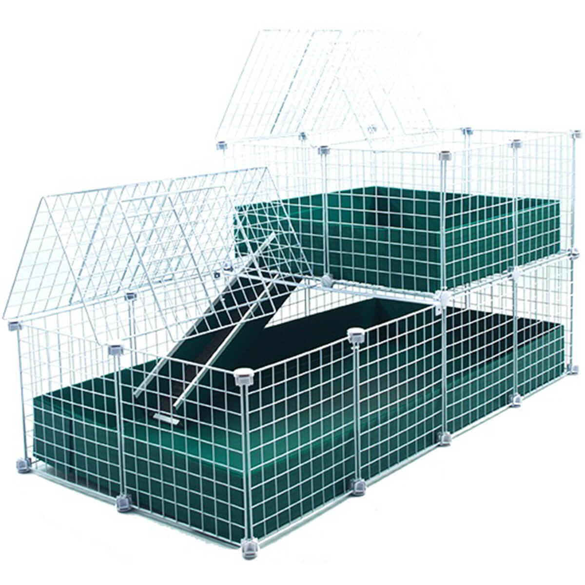 Large with wide loft covered deluxe covered cages c c for Guinea pig and cage for sale
