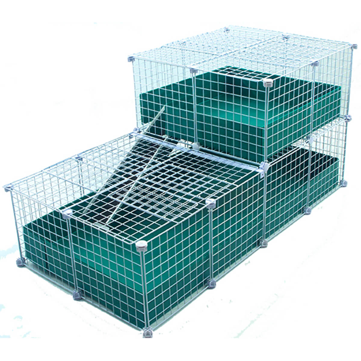 Large with wide loft covered deluxe covered cages c c for Making a c c cage