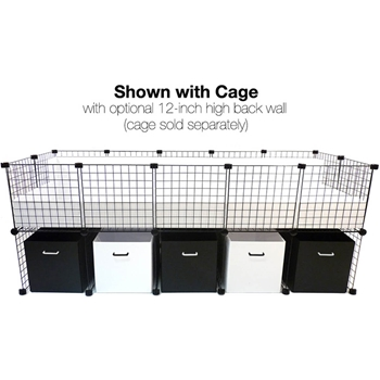 Black and White Guinea Pig Cage Stand