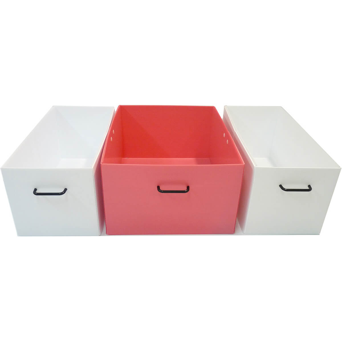 Bins for Medium Cage - pink and white
