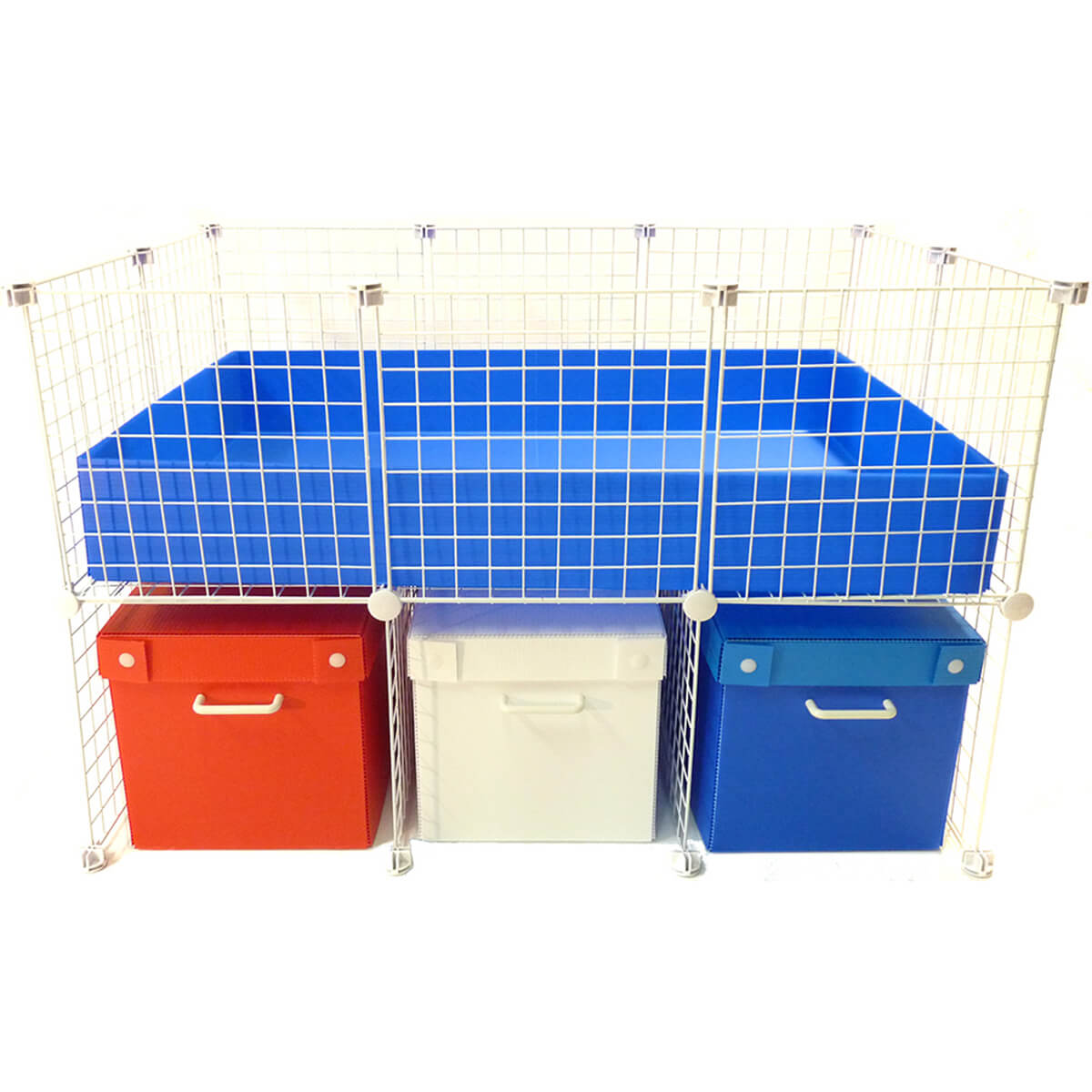 Cage cubby bin cover for c c cages for Plastic bin guinea pig cage